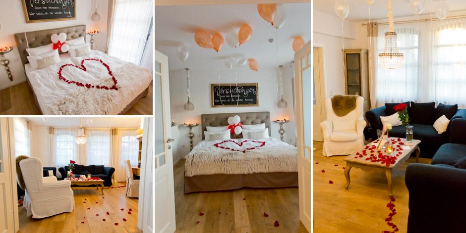 zimmer romantisch dekorieren tipps und deko hochzeitssuite. Black Bedroom Furniture Sets. Home Design Ideas